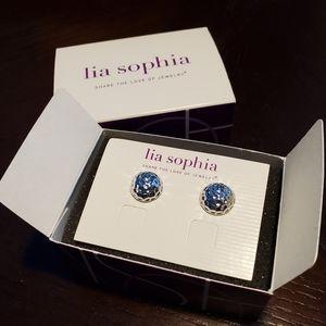 """Lia Sophia """"Forged"""" stud earrings, NEW!"""